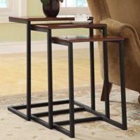Carolina Cottage Emmitt 3-Piece Nesting Table Set in Chestnut/Black