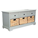 Decor Therapy Montgomery Bench in Blue
