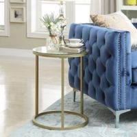 Carolina Cottage Orson Accent Table in Gold