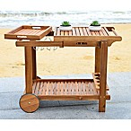 Safavieh Orland Tea Trolley with Teak Brown Finish