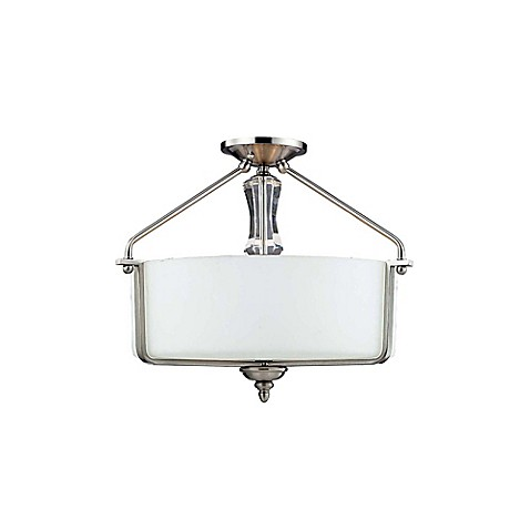 flush mount bathroom lighting avin 3 light semi flush mount bath vanity in brushed 18368