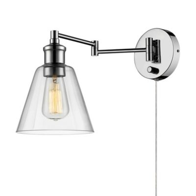 Wall Lamps Bed Bath Beyond : Globe Electric LeClair 1-Light Wall Sconce in Chrome - Bed Bath & Beyond