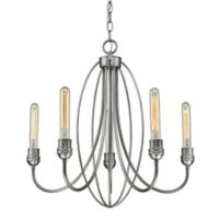 Piper 5-Light Chandelier in Old Silver