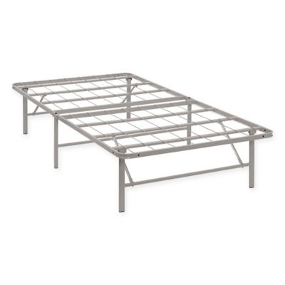 modway horizon twin stainless steel bed frame in grey - Steel Bed Frames