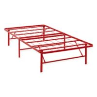 Modway Horizon Twin Stainless Steel Bed Frame in Red