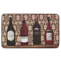 Chef Gear Assorted Wines Faux Leather 18-Inch x 30-Inch Comfort Kitchen Mat in Red