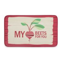 Chef Gear Heart Beets Faux Leather 18-Inch x 30-Inch Comfort Kitchen Mat in Red