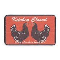 Chef Gear Kitchen Closed Faux Leather 18-Inch x 30-Inch Comfort Kitchen Mat in Red