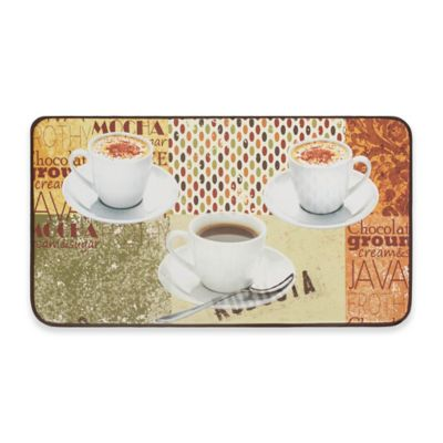Chef Gear Coffee Patch Faux Leather 20 Inch X 32 Inch Comfort Kitchen Mat