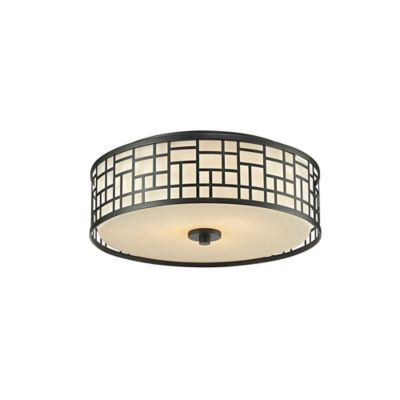 Z lite lea 3 light flush mount ceiling light in bronze