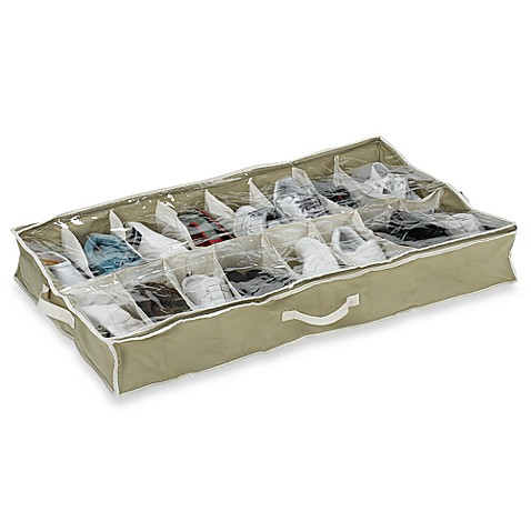 Cedar Underbed 16 Pair Shoe Storage Bed Bath Beyond