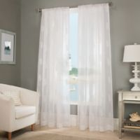 "Reef 84"" Sheer Window Curtain Panel in White"
