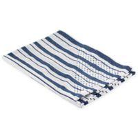 Polder Grip Dry Kitchen Towel in Blue Stripe