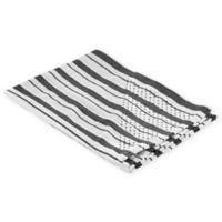 Polder Grip Dry Kitchen Towel in Grey Stripe