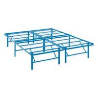 Modway Horizon Full Stainless Steel Bed Frame in Light Blue