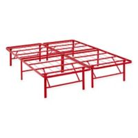 Modway Horizon Full Stainless Steel Bed Frame in Red