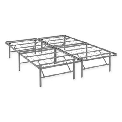Modway Horizon Queen Stainless Steel Bed Frame In Silver