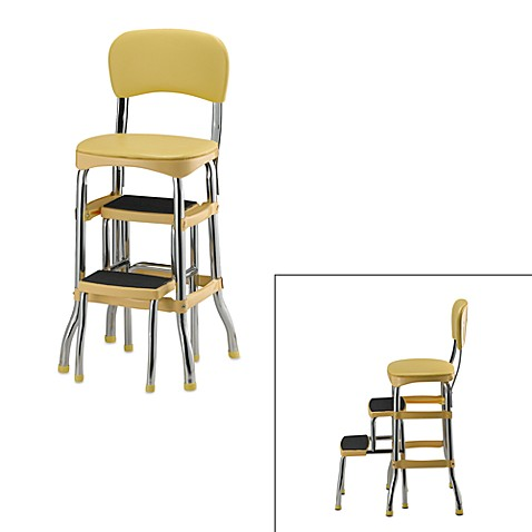 Cosco® Retro Chair/Step Stool - Yellow  sc 1 st  Bed Bath u0026 Beyond & Cosco® Retro Chair/Step Stool - Yellow - Bed Bath u0026 Beyond islam-shia.org