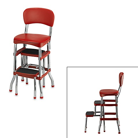Cosco 174 Retro Chair Step Stool In Red Bed Bath Amp Beyond