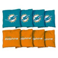 NFL Miami Dolphins 16 oz. Duck Cloth Cornhole Bean Bags (Set of 8)