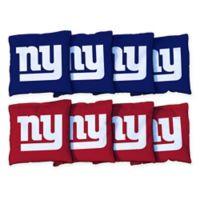 NFL New York Giants 16 oz. Duck Cloth Cornhole Bean Bags (Set of 8)