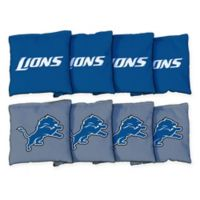 NFL Detroit Lions 16 oz. Duck Cloth Cornhole Bean Bags (Set of 8)