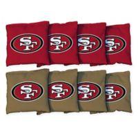 NFL San Francisco 49ers 16 oz. Duck Cloth Cornhole Bean Bags (Set of 8)