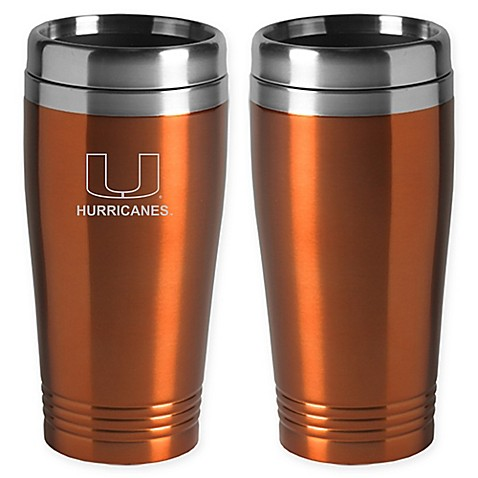 University Of Miami Travel Mug
