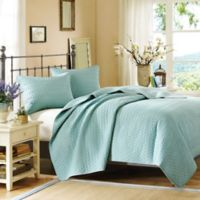 Hampton Hill Velvet Touch Queen Coverlet Set in Sky