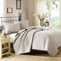 Hampton Hill Velvet Touch King Coverlet Set in Linen