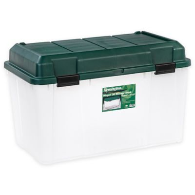 Storage Trunks In Green (Set Of 3)