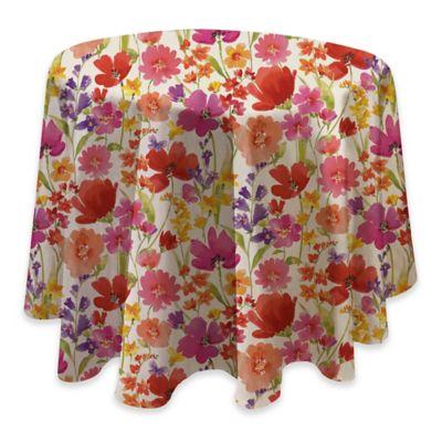 Victoria Gardens 70 Inch Round Vinyl Tablecloth