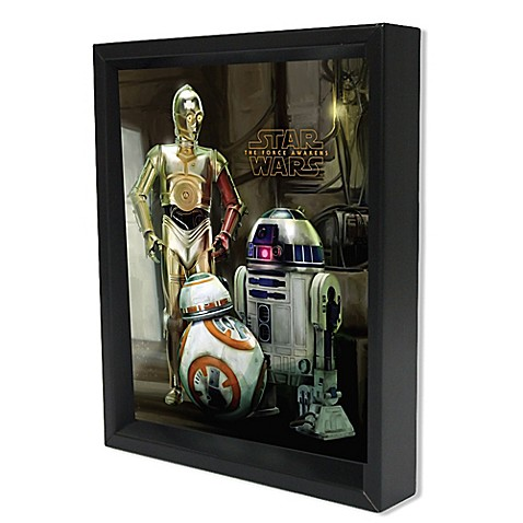Star Wars™ The Force Awakens Droids Framed 3D Lenticular Shadowbox ...