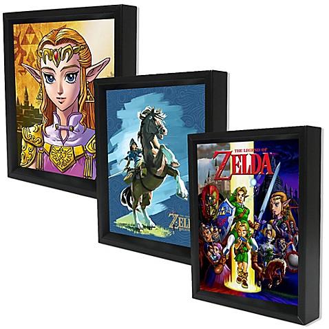 Nintendo® The Legend of Zelda 3D Shadowbox Wall Art Collection  sc 1 st  Bed Bath u0026 Beyond & Nintendo® The Legend of Zelda 3D Shadowbox Wall Art Collection - Bed ...