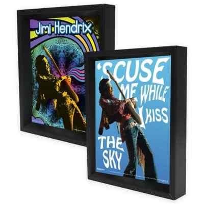 Jimi Hendrix Framed 3D Lenticular Shadowbox Wall Art Collection