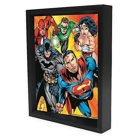 DC Comics™ Justice League Heroes Framed 3D Lenticular Shadowbox Wall ...