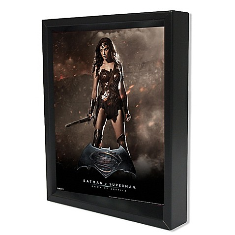 Superman Wonder Woman Framed 3D Lenticular Shadowbox Wall Art  sc 1 st  Bed Bath u0026 Beyond & DC Comics™ Batman vs. Superman Wonder Woman Framed 3D Lenticular ...