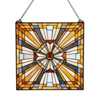 River of Goods 17.5-Inch Stained Glass Pharaoh's Jeweled Window Panel