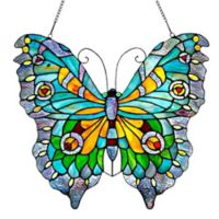 River of Goods Swallowtail Butterfly Stained Glass Window Panel