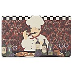Chef Gear Chef De Cuisine Gelness 18-Inch x 30-Inch Anti-Fatigue Kitchen Mat in Red