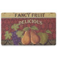 Chef Gear Fancy Fruit Gelness 18-Inch x 30-Inch Anti-Fatigue Kitchen Mat in Red