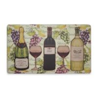 Chef Gear Wine Tasting Gelness 18-Inch x 30-Inch Anti-Fatigue Kitchen Mat in Multi