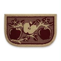 Structures Apple Orchard Textured Loop 18-Inch x 30-Inch Wedge Kitchen Mat in Red