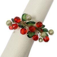 Holiday Sparkle Napkin Ring (Set of 4)