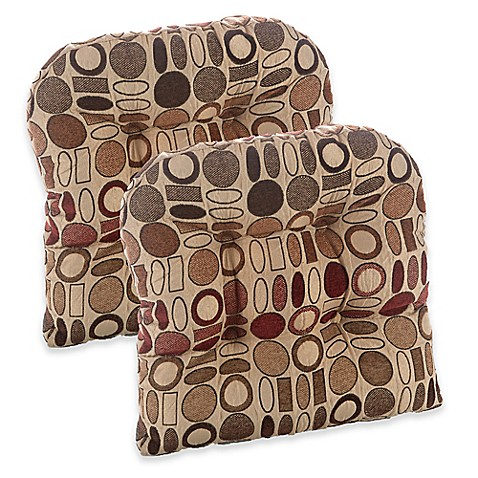 Klear Vu Corona Gripper Chair Pads Set Of 2 Bed Bath