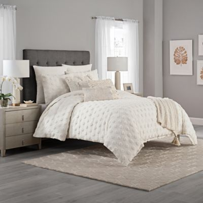 Kas Eden Twin Duvet Cover In Ivory