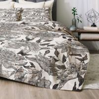Deny Designs Summertime Natural King Comforter Set in Black