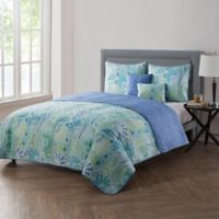VCNY Home Harmony Reversible Full/Queen Quilt Set in Blue