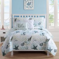 VCNY Home Shore Life Reversible Twin XL Quilt Set in Blue