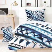 Deny Designs Indigo Stripe 3-Piece Queen Duvet Set in Blue